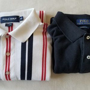 2 Men's Polo Golf and By Ralph Lauren XXL Polo's
